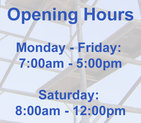 Graphic showing CCF's opening hours
